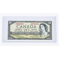 Bank of Canada 1954 20.00 Modified Portrait. (AU)