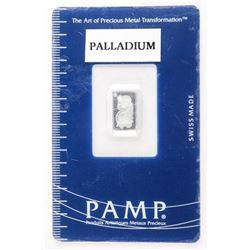 999.5 Pure Palladium Bar - Swiss Made Serialized