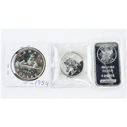 Lot (3) Silver - 1oz Bar, .9999 Fine Silver $20.00