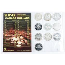 Estate Collection (10) Canada Silver Dollars Inclu