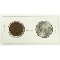 1867-1967 Silver 50 Cents plus 1939 Royal Visit Me
