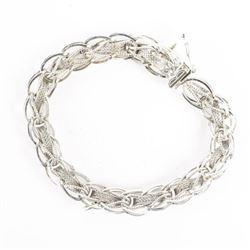 Estate Sterling Silver Charm Bracelet - 17 Grams.
