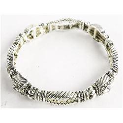 Antique Style - Flex Cuff Bracelet with Swarovski