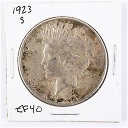 1923(S) Silver Peace Dollar EF40