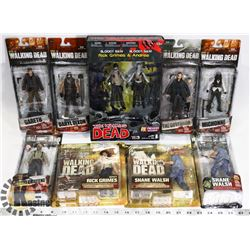 LOT OF ASSORTED WALKING DEAD FIGURES