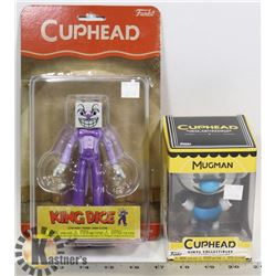 LOT OF 2 CUPHEAD FIGURES