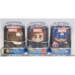 MARVEL MIGHTY MUGGS CAPTAIN AMERICA FIGURES.
