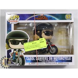 FUNKO CAPTAIN MARVEL CAROL DANVERS ON MOTORCYCLE