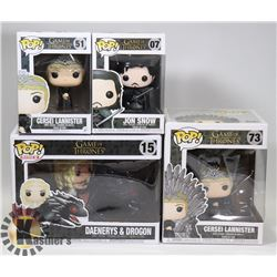 LOT OF ASSORTED GAME OF THRONES FUNKO POPS
