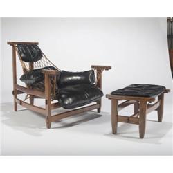 Jean Gillon-Lounge chair and ottoman