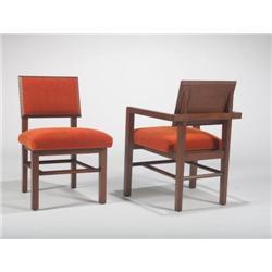 Frank Lloyd Wright-6 chairs