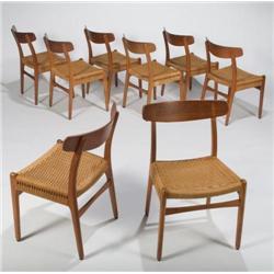 Hans J. Wegner-Set of 8 dining chairs