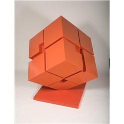 Bernard Tony Rosenthal Rotating cube Alamo