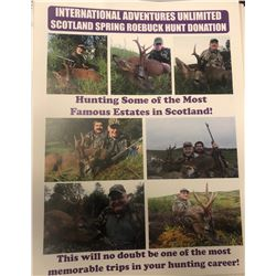 International Adventures Unlimited - 3 day Scotland Roebuck hunt for 1 hunter