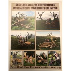 International Adventures Unlimited - 3 day Scotland Red Deer hunt for 1 hunter