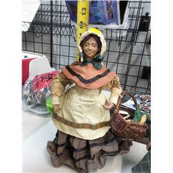 Handmade Black Americana Doll and Pioneer Doll