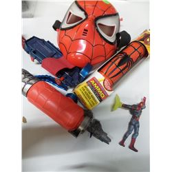 Spiderman face mask and web sprayer with Spiderman Action figure
