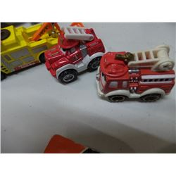 Lot of Tonka Fire Truck and Tow Truck
