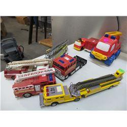 Assortment of Fire Engine Ladder Trucks