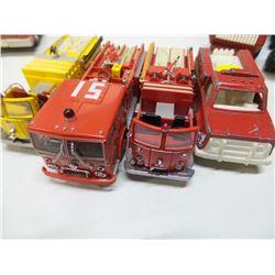 Lot of 4 Fire Engine Trucks