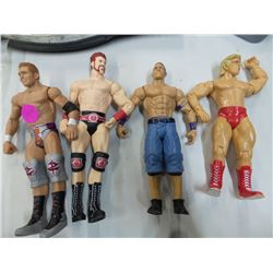 Lot of 4 Wrestling Action Figures 7 inches tall