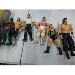 Lot of 6 Wrestling Action Figures 7 inches tall