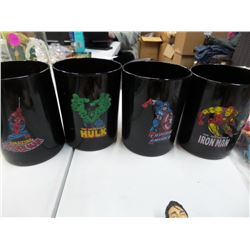 Lot of 4 Marvels comic cups
