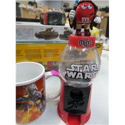 Star Wars M & M Dispenser and Star Wars Cup