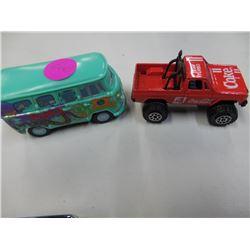 Coke Truck and Cars Peace Van