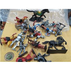 Lot of Medieval action figures