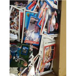 Box of Baseball and Basketball cards