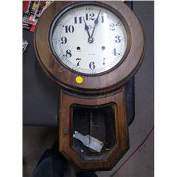 Vintage Regulator style Elgin Wall Clock