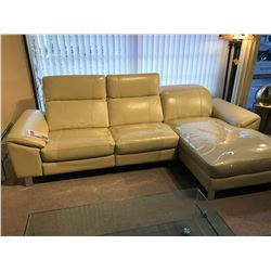 PALLISER LEATHER L-SHAPE SECTIONAL POWER RECLINING SOFA WITH INTEGRATED USB PORTS, RP: $7,999