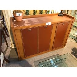 OAK 4.5' LEATHER ACCENTED SIDEBOARD, RP: $2,999