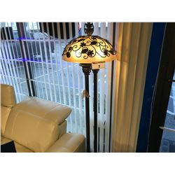 5' DECORATIVE FLORAL DESIGN FLOOR LAMP BY UTTERMOST LIGHTING, RP: $2,499
