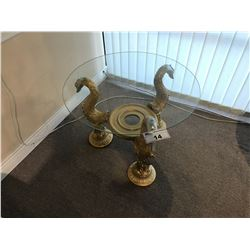 GOLDEN GOOSE GLASS TOP END TABLE
