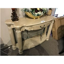 MICHAEL AMINI TRADITIONAL DESIGN SINGLE DRAWER CONSOLE TABLE, RP: $4,999