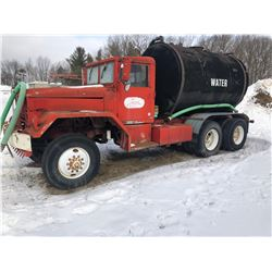 "1962 MACK OFF ROAD WATER TRUCK W / 3"" WATER PUMP"