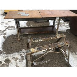 GR OF 3, METAL STANDS & WORK BENCH