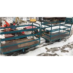 2 X METAL SHOP CARTS