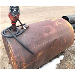 LARGE FUEL TANK W / PUMP - CONDITION UNKNOWN