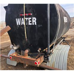FRAME MOUNTED WATER TANK W/ FLUSHING BAR