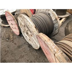 4 X LARGE SPOOLS CRANE CABLE