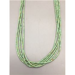 Five Strand Heishi Turquoise Necklace