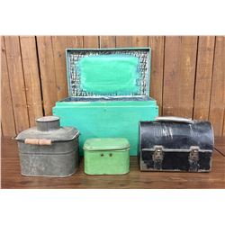 Vintage and Antique Lunch Box Lot