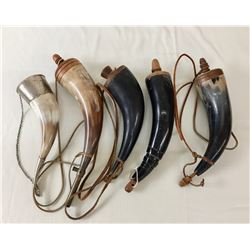 Group of Powder Horns