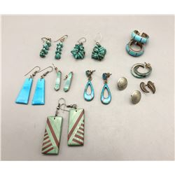 Group of 10 Pair of Earrings