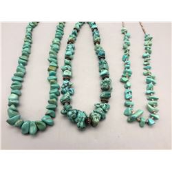 Group of Three Turquoise Necklaces