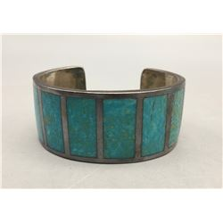 Turquoise and Sterling Silver Inlay Bracelet