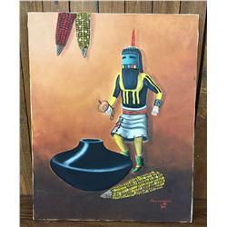 Original J. Yellowhair Oil Painting